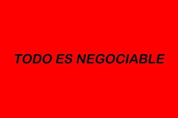 todo es negociable